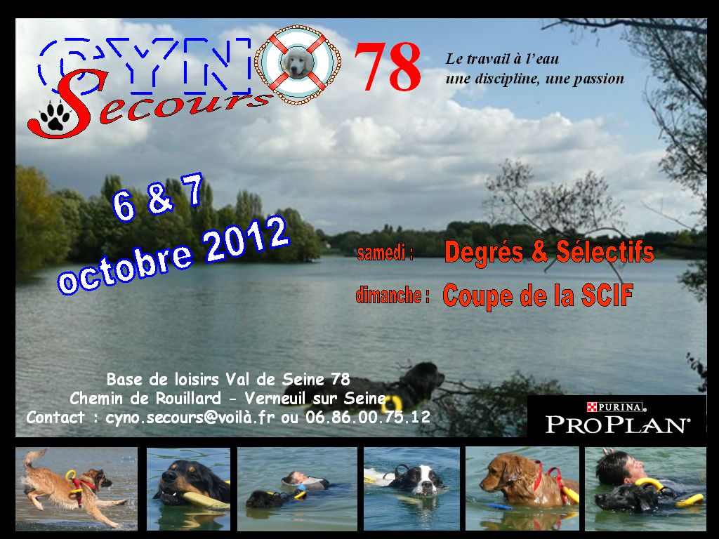 Affiche concours 2012 CYNO SECOURS 78